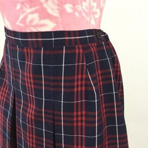 True Grit Skirts - VTG Y2k Red Plaid School Uniform Pleated Skirt